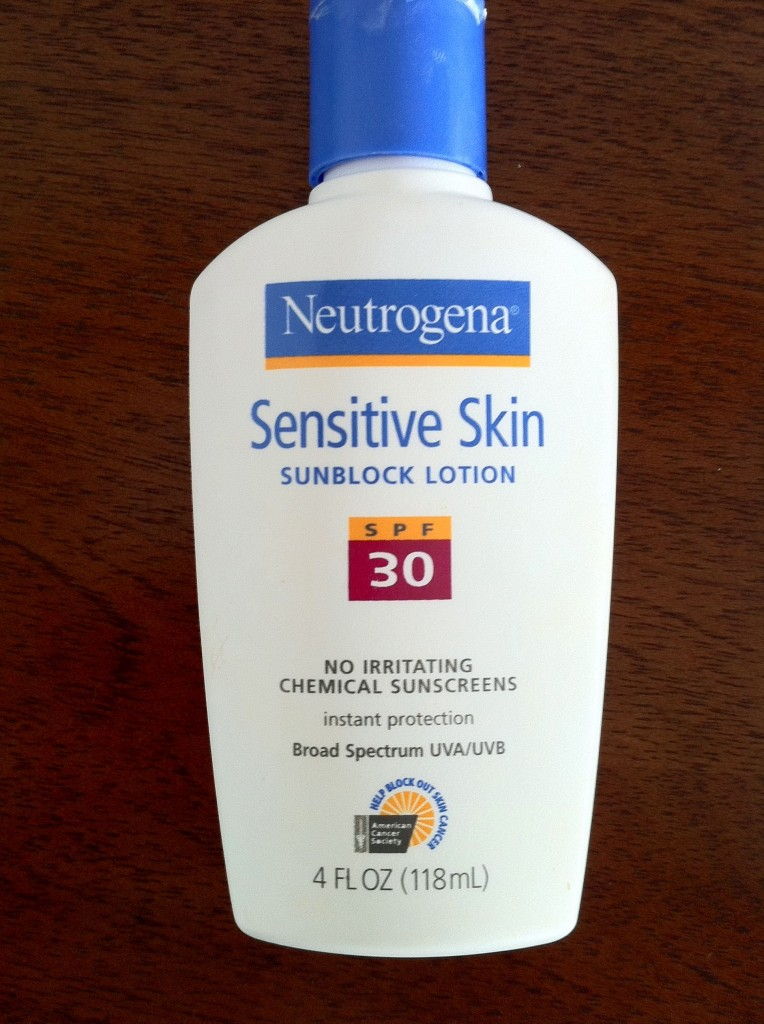 9. Neutrogena Sensitive Skin Sunblock
